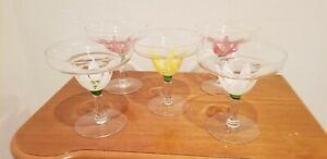 Vintage-Glass-Dessert-Dishes-Lotus-Flower