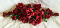 Burgundy Swag Silk Wedding Flowers Roses Arch Gazebo Decor Centerpieces Lapis