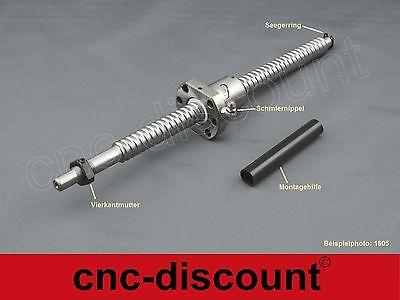 SFU1605 RM1605-450mm Kugelumlaufspindel+BF12//BK12 Festlager 1satz