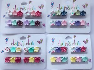 12-Claire-039-s-Baby-Girl-kids-Small-mini-flower-Styling-Hair-clips-Clamps-Claws