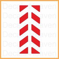 2pcs Red Reflective Pannier Back Decal Kit Set Safety Sticker M5, Reflectors