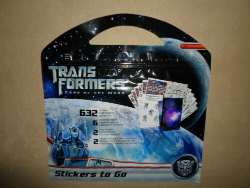 2 Play Scenes..~NEW Transformers Stickers To Go~632 Stickers 6 Coloring Pages