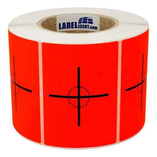 Versandaufkleber 74x105 mm Schwerpunkt hier 1000 Warnetiketten Papier rot