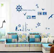 Nautical Blue Wall Photo Frame Stickers Decal Removable Quote Mural Home Decora