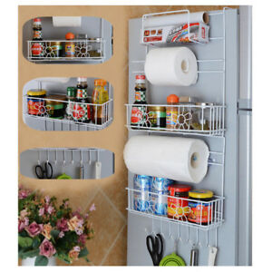 Image Is Loading 6 Tiers Kitchen Storage Rack Over Fridge Wall