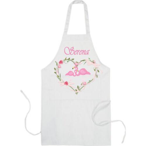 Personnalisé Enfant/'S SCHOOL//Playschool//Nursery Flamingo Tablier /& Chapeau Cadeau