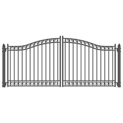 Aleko Dublin Style Ornamental Iron Wrought Dual Driveway Gate 16' High Quality Uitverkoop Totale Korting 50-70%