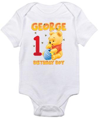 Winnie The Pooh Birthday Custom T-Shirt Pooh Personalized Family Shirts
