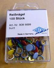 Reißzwecken Reißnägel Heftzwecken bunt farbig 100 Stück für zb Pinnwand Neu OVP