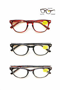 Plastic Glasses Frame Polish : Bifocal Plastic Frame Spring Temple Reading Glasses Clean ...