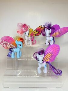 My Little Pony G4 Friendship is Magic 2012 Rainbow Dash Glimmer Wings Lot Of 4