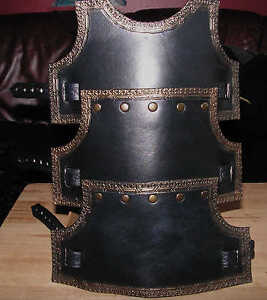Black/Charcoal Grey with Bronze Highlights Arm Bracer Left or Right, LARP, Role
