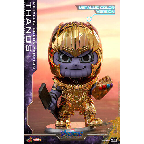 Avengers  Endspiel Cosbaby Thanos Metallic Farbe Version Wackelkopf Figur Neu