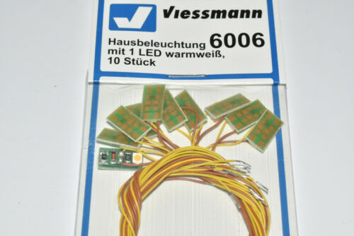 Viessmann 6006  10 Stück LED Lichtsockel Hausbeleuchtung warmweiß NEU in OVP