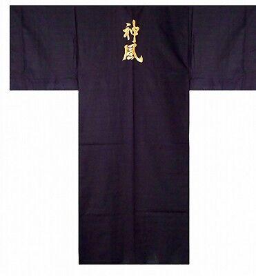 "DM-S00986-01-BK KIMONO with Obi M(58"") Embroidery Made in JAPAN Japanese MEN's"