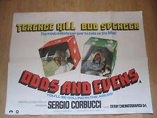 ' ODDS AND EVENS ' 1978 BUD SPENCER/TERENCE HILL ORIGINAL UK QUAD MOVIE POSTER