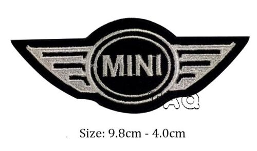 Mini Cooper Logo de Course Motard Voiture Brodé Patch Thermocollant Badge