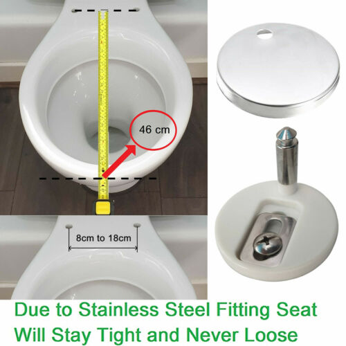 Oval UF Toilet Seat Soft Close Quick Release Top//Bottom Fixing AAN 46x37cm