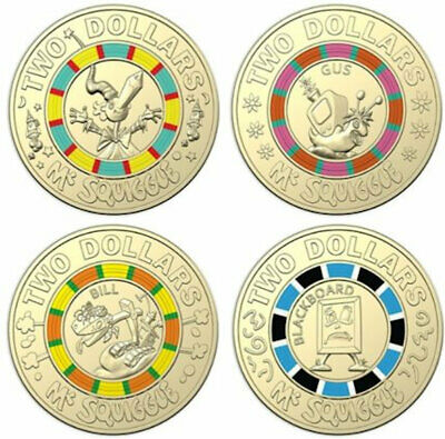 BILL Great Investment 2019 $2 Coin 60th Anniversary of Mr Squiggle UNC