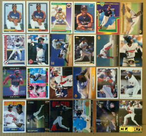 Kenny-Lofton-LOT-of-38-ROOKIE-RC-insert-parallel-base-cards-NM-1992-97-Indians