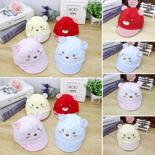 Hot Summer Newborn Kid Baby Boys Girls Baseball Cap Unisex Cute Bear Hats
