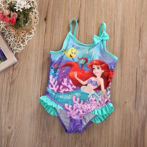 Disney Costume da Bagno per Ragazze a Due Pezzi La Sirenetta