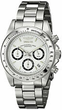 Invicta Silver Plata Hombre Bracelet Pulsera Reloj Watch Steel Hand Crystal Man