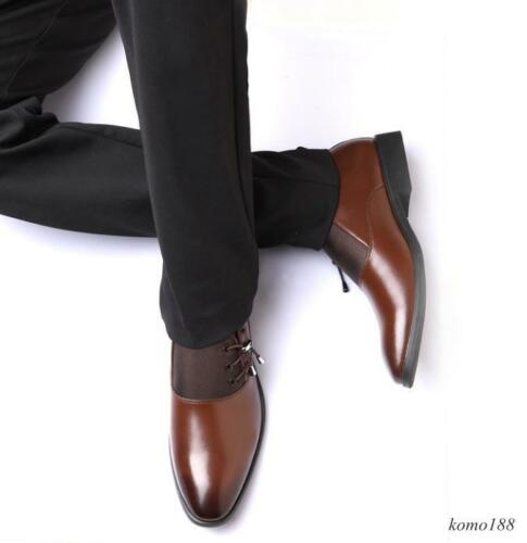New Fashion Men/'s Patent Leather Oxford Formel Robe//Chaussures De Loisirs Noir Marron