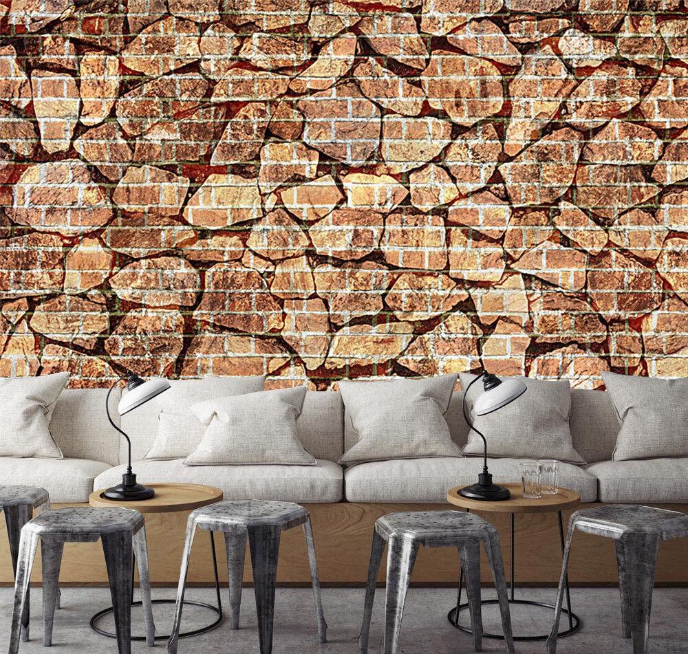 3D Steinziegel 558 Tapete Tapeten Mauer Foto Familie Tapete Wandgemälde DE