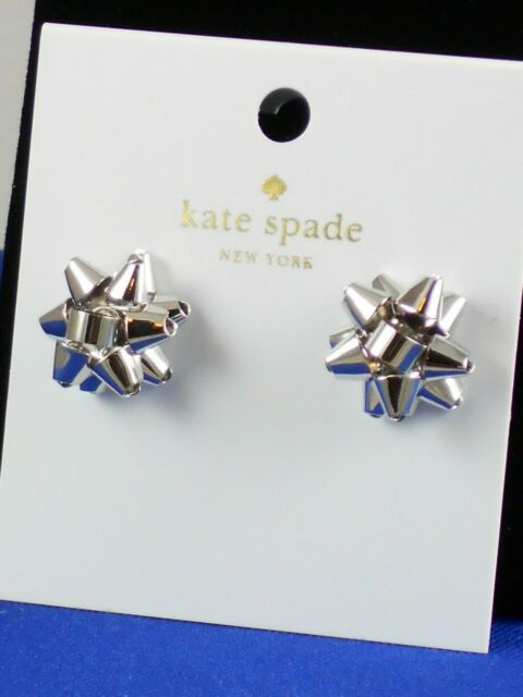 Kate Spade Silver Plated BOURGEOIS BOW Stud Earrings O0RU1069 $48