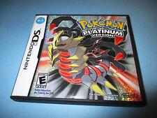 Pokemon Platinum Version (Nintendo DS) Lite DSi XL 3DS 2DS w/Case & Manual