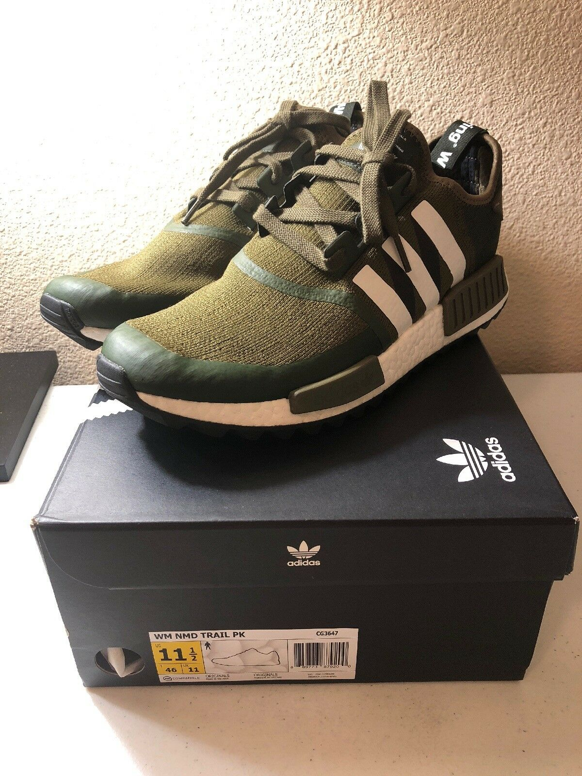 NEW Adidas WM NMD Trail PK size size size 11.5 Olive White Mountaineering CG3647 100% Auth 2c453a