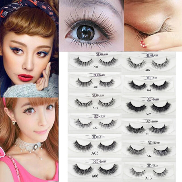 19 Styles 3d Real Mink Soft Makeup Long Natural Eye Lashes Thick