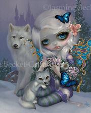 Jasmine Becket-Griffith art BIG print seasons fairy wofl castle SIGNED Winter