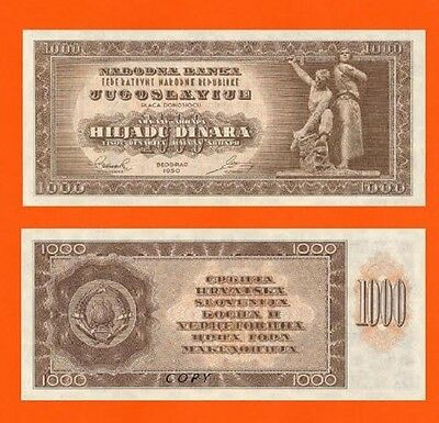 Reproductions Yugoslavia 500 Dinar 1949.-1950.London  UNC