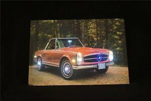 Mercedes-Benz-Cabrio-Rot-Oldtimer-LED-Leucht-bild-Beleuchtung-Wohnzimmer-0-8