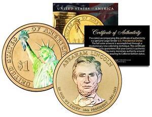 ABRAHAM-LINCOLN-2010-Presidential-1-Golden-Dollar-U-S-Coin-HOLOGRAM-2-SIDED