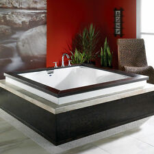 NEPTUNE MACAO 60x60 ACRYLIC SQUARE BATH TUB SOAKER FOR TWO OPTIONAL WHIRLPOOL