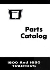 White Oliver Minneapolis Moline 1600 1650 Tractor Parts Catalog Book Manual