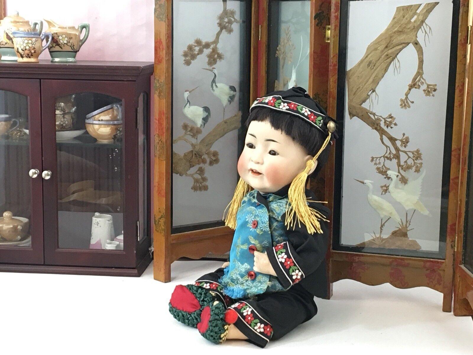 Cabeza de Biscuit Alemán Antiguo bebé muñeca Kestner 243 oriental 13  JD