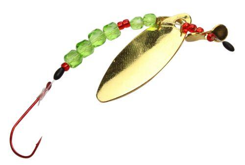 FTM Forellen Schlepp System verschiedene Farben Forelle Blinker Spoon Vorfach