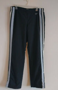 Nike-Black-with-Light-Blue-Stripe-Workout-Pants-Womens-Large-12-14-Athletic