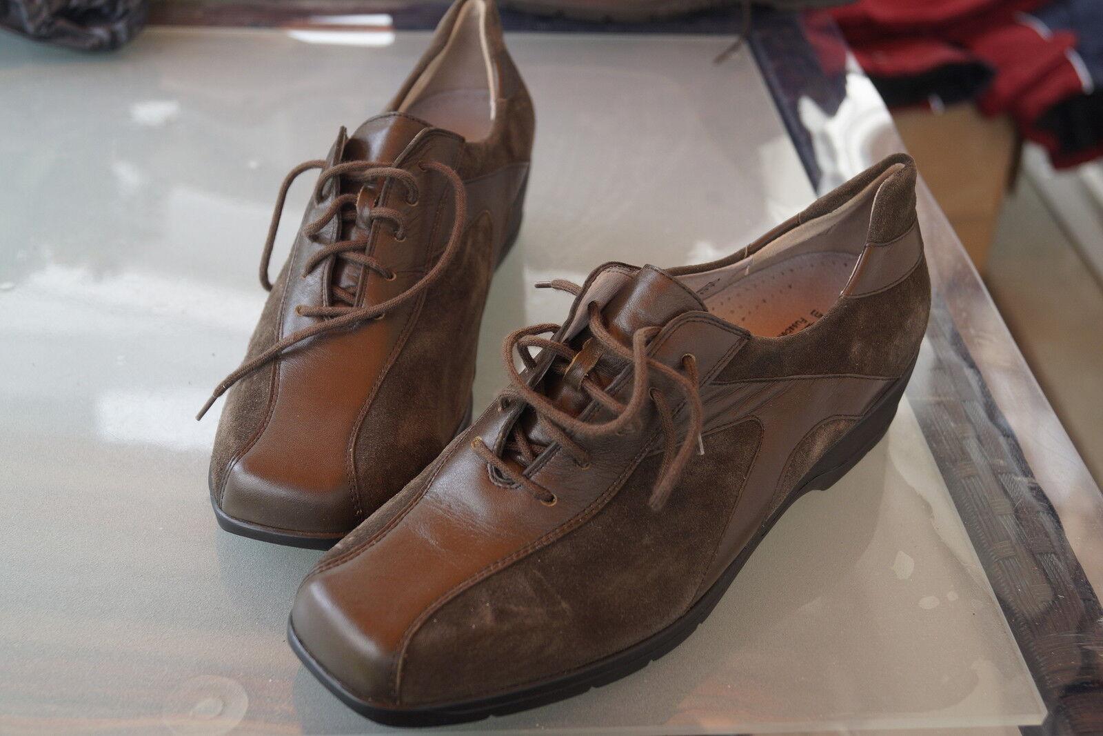 WBLDLÄUFER Damen Comfort Schuhe Schnürschuh Leder Einlagen oliv Gr.6 G / 39,5 40