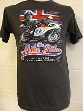 "Mike Hailwood ""Mike la moto"" 9 Volte World Champion T-SHIRT - Grigio - L Large"