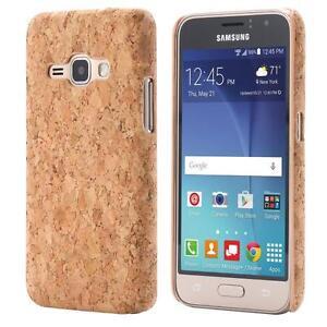 Samsung-Galaxy-J1-2016-CORCHO-FUNDA-MADERA-NATURAL-HARD-CASE-CASO-COVER-CAJA