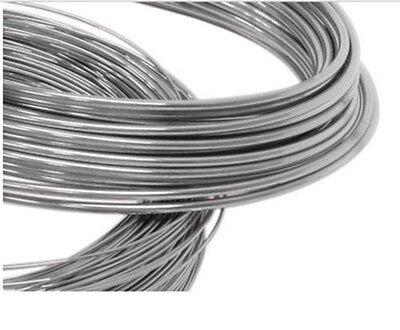 21 Gauge 0,72 mm Suave 5 ft Plata Esterlina 925 de alambre redondo