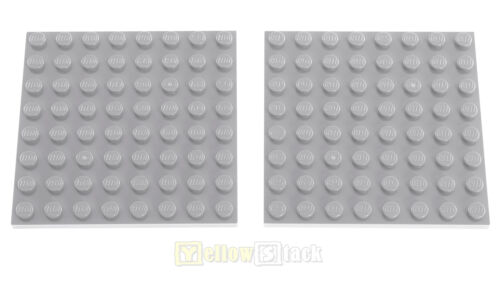 2x LEGO® 41539 8x8 Platte neu-hellgrau NEU