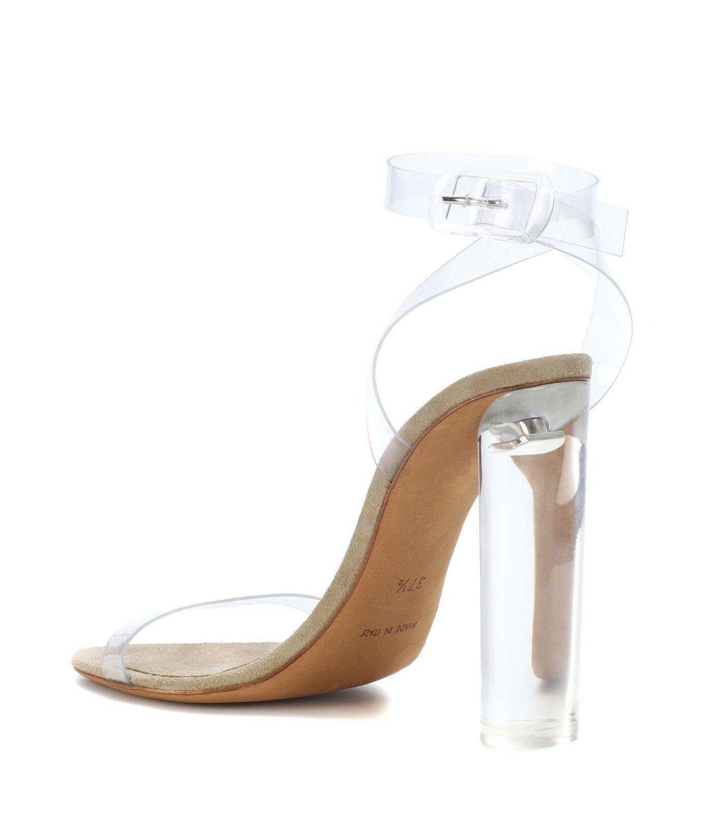 YEEZY SEASON 6 KIM LUCITE PVC KIM 6 KARDASHIAN KANYE WEST Kendall Plexi Sandal 37 7 d61391