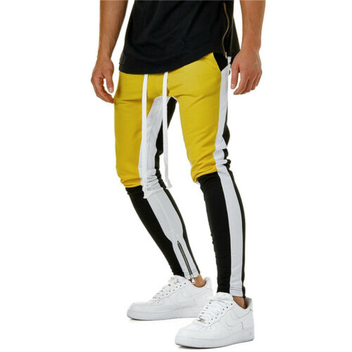 Men Elasticated Cargo Combat Work Trousers Casual Jogger Joggings Pants Bottoms