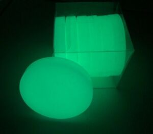 6-Glow-Eco-Discs-Green-no-power-required-UV-energy-for-over-10-hours-of-light